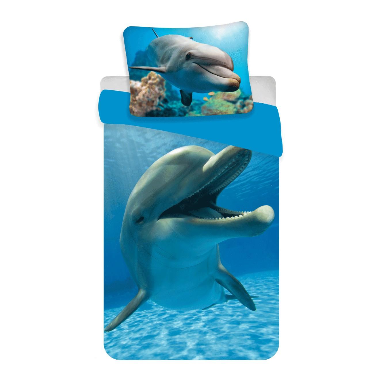 Delfines 2 részes pamut-vászon ágyneműhuzat