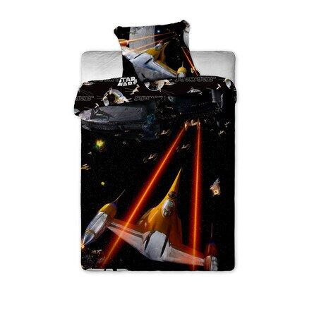 Star Wars spaceship 2 reszes pamut-vaszon gyerek agynemuhuzat