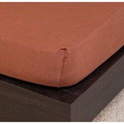 Pamut Jersey csokoládé gumis lepedő 100x200 cm