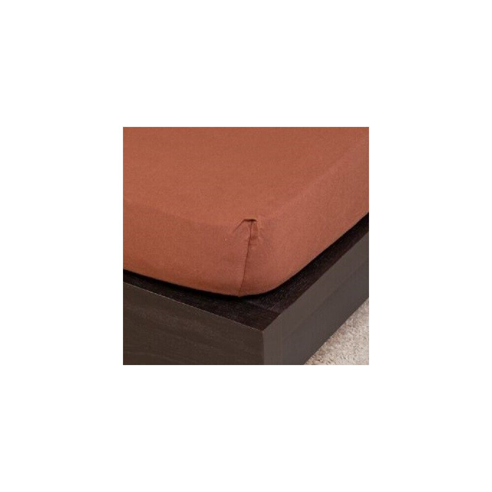 Pamut Jersey csokolade gumis lepedo 100x200 cm