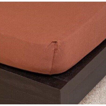 Pamut Jersey csokolade gumis lepedo 80-100x200 cm