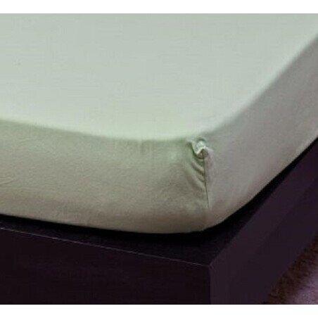 Pamut Jersey vilagoszold gumis lepedo 80-100x200 cm