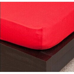 pamut Jersey piros gumis lepedo 100x200 cm