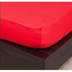 Pamut Jersey piros gumis lepedő 100x200 cm