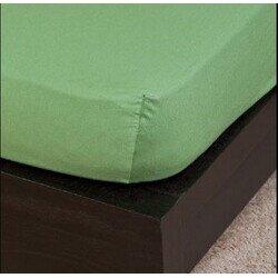 Pamut Jersey olivazöld gumis lepedő 100x200 cm