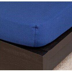 Pamut Jersey acélkék gumis lepedő 100x200 cm