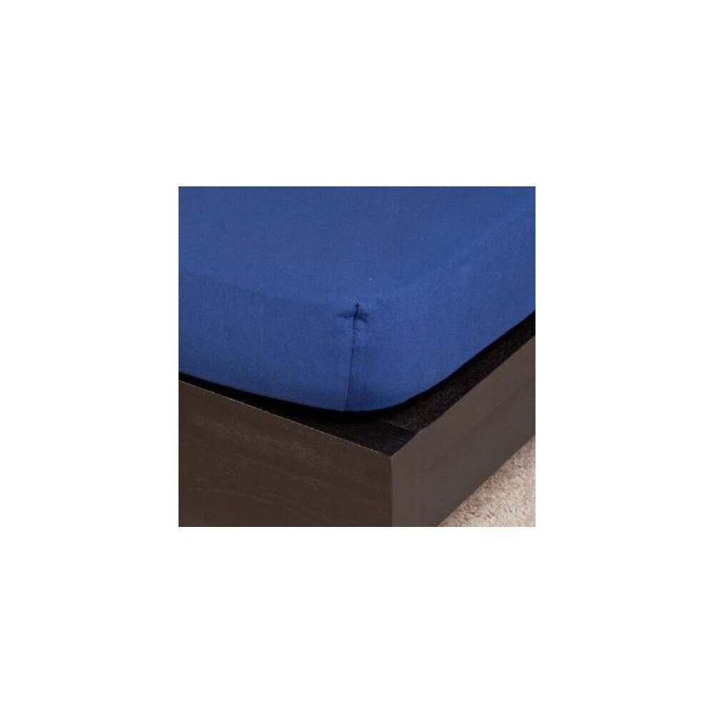 Pamut Jersey sotetkek gumis lepedo 80-100x200 cm