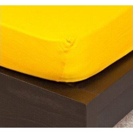 Jersey kukoricasarga gumis lepedo 100x200 cm