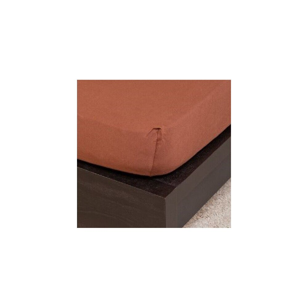 Pamut  Jersey csokolade  gumis lepedo 160x200 cm