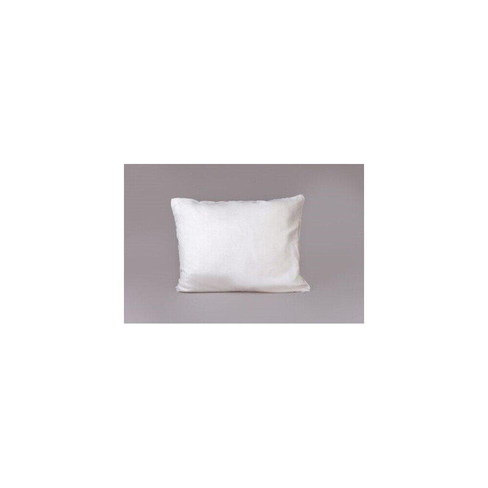 Bőrhatású díszpárna törtfehér 40x50 cm
