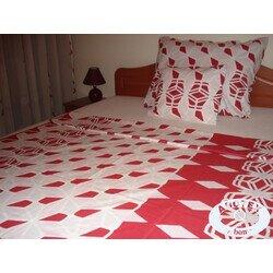 Mimi piros 3 részes pamut ágyneműhuzat