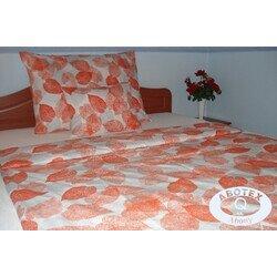Narancs leveles 3 részes pamut ágyneműhuzat