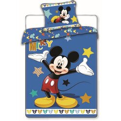 Mickey Egér Stars 2 részes pamut-vászon ágyneműhuzat