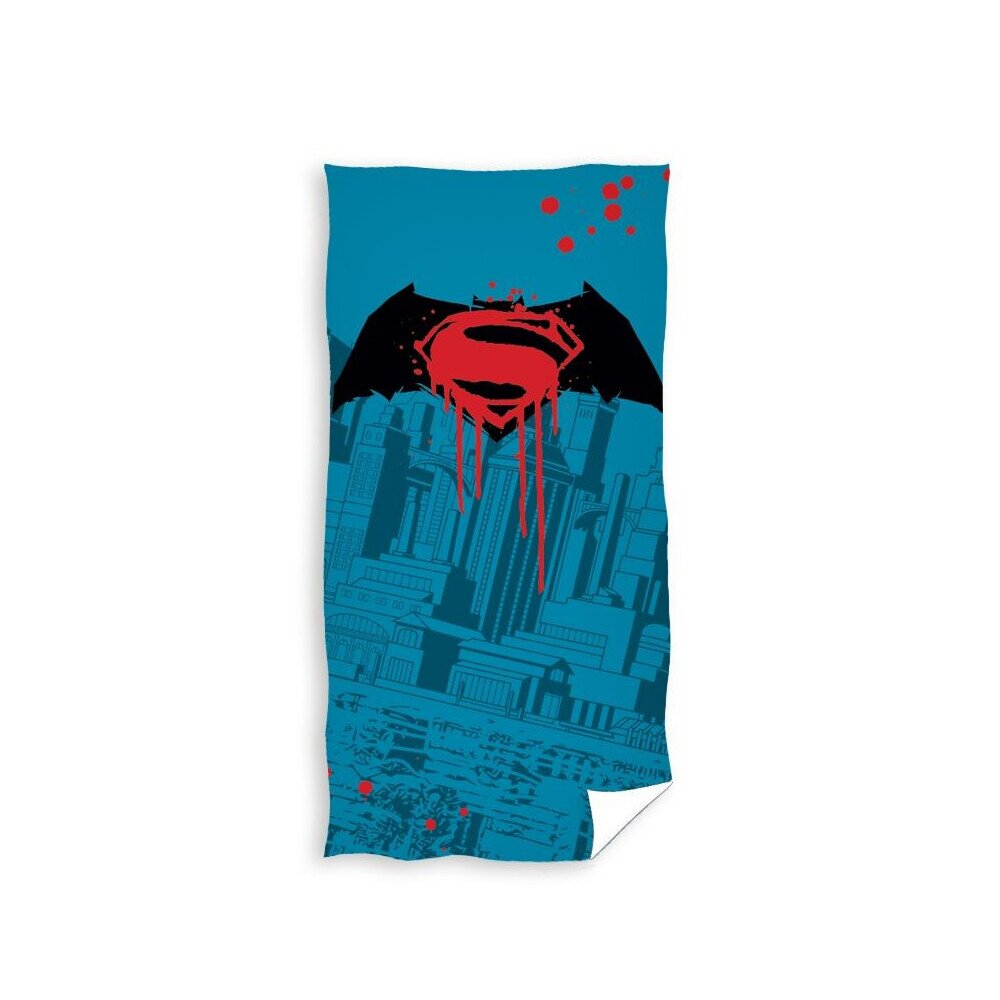 Superman vs Batman pamut torolkozo 70x140 cm