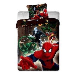 Spiderman brown 2 részes pamut-vászon gyerek ágynemű