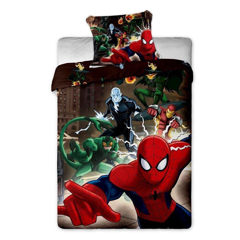 Spiderman brown 2 reszes pamut-vaszon agynemuhuzat