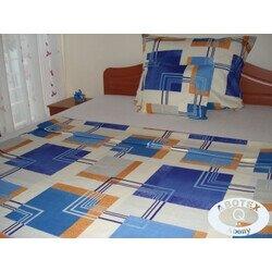 Beauty kék 3 részes pamut ágyneműhuzat