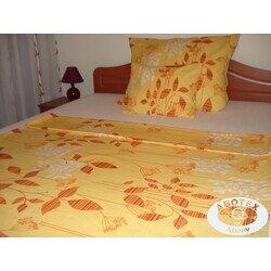 Sárga 3 részes pamut ágyneműhuzat