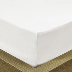 Pamut Jersey fehér gumis lepedő 90-100x190-200 cm