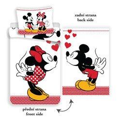 Minnie és Mickey egér kétoldalas 2 részes pamut-vászon gyerek ágyneműhuzat