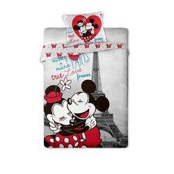 Mickey es Minnie Eger Parizsban 2 reszes pamut-vaszon gyerek agynemuhuzat