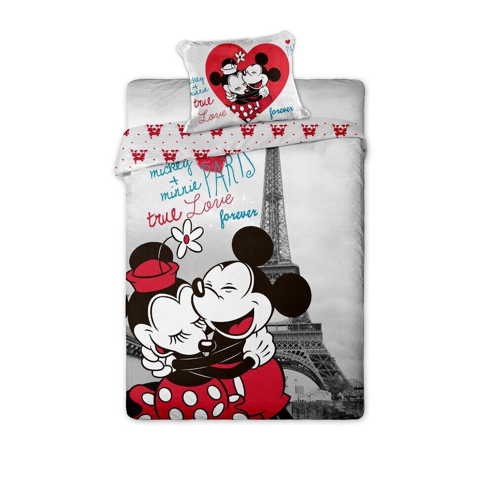 Mickey es Minnie Eger Parizsban 2 reszes pamut-vaszon agynemuhuzat