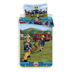 Sam a tűzoltó 2 részes pamut-vászon gyerek ágyneműhuzat