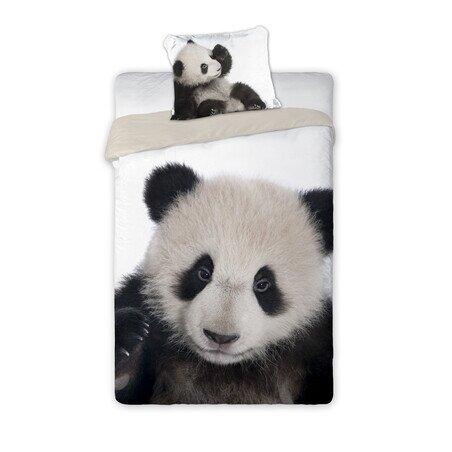 Panda 2 reszes  pamut-vaszon agynemuhuzat
