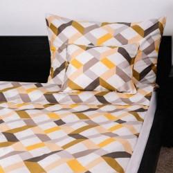 Magic yellow pamut szatén 3 részes ágyneműhuzat