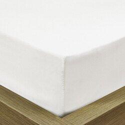 Pamut Jersey fehér gumis lepedő 180-190x200 cm