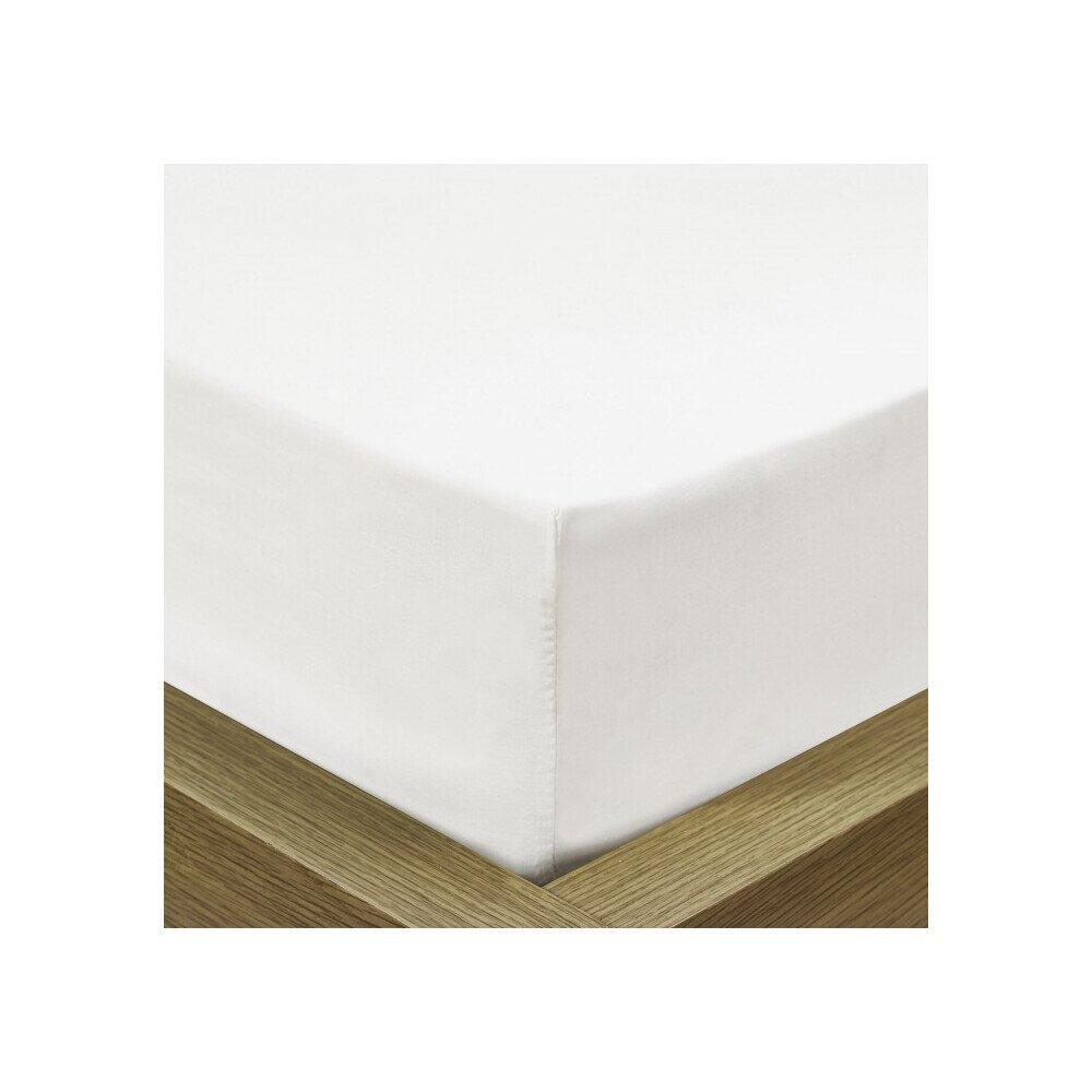 Pamut Jersey feher gumis lepedo 180-200x200 cm