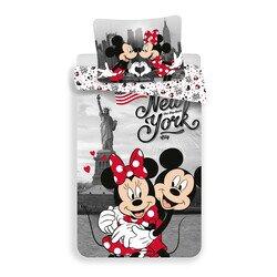 Mickey és Minnie egér New York City 2 részes pamut-vászon gyerek ágynemű