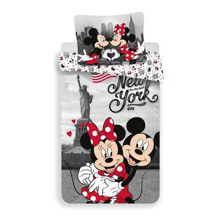 Mickey es Minnie eger New York City 2 reszes pamut-vaszon gyerek agynemu