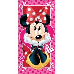 Minnie egér hearts pamut törölköző 70x140 cm