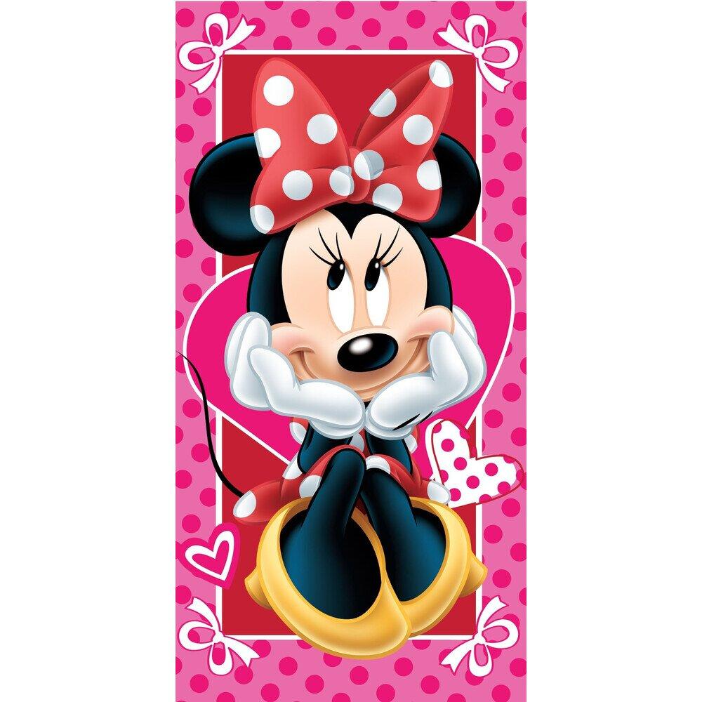 Minnie eger hearts pamut torolkozo 70x140 cm