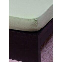 Pamut Jersey világoszöld gumis lepedő 160x200 cm