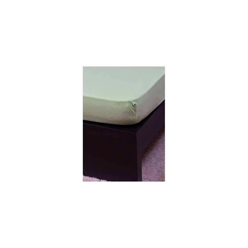 Pamut Jersey vilagoszold gumis lepedo 160x200 cm