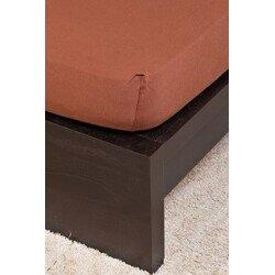 Pamut Jersey csokolade gumis lepedo 200x200 cm