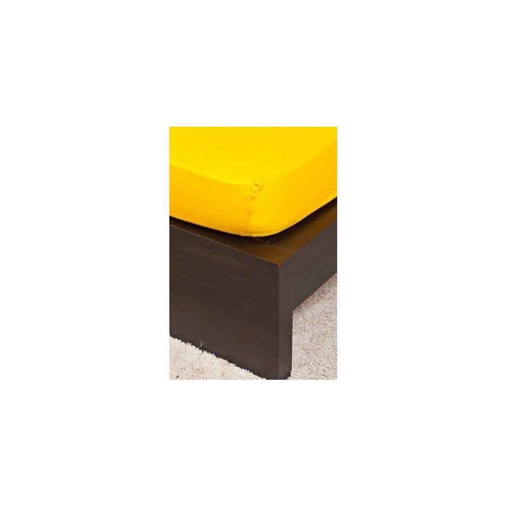 Pamut Jersey kukoricasarga gumis lepedo 200x200 cm