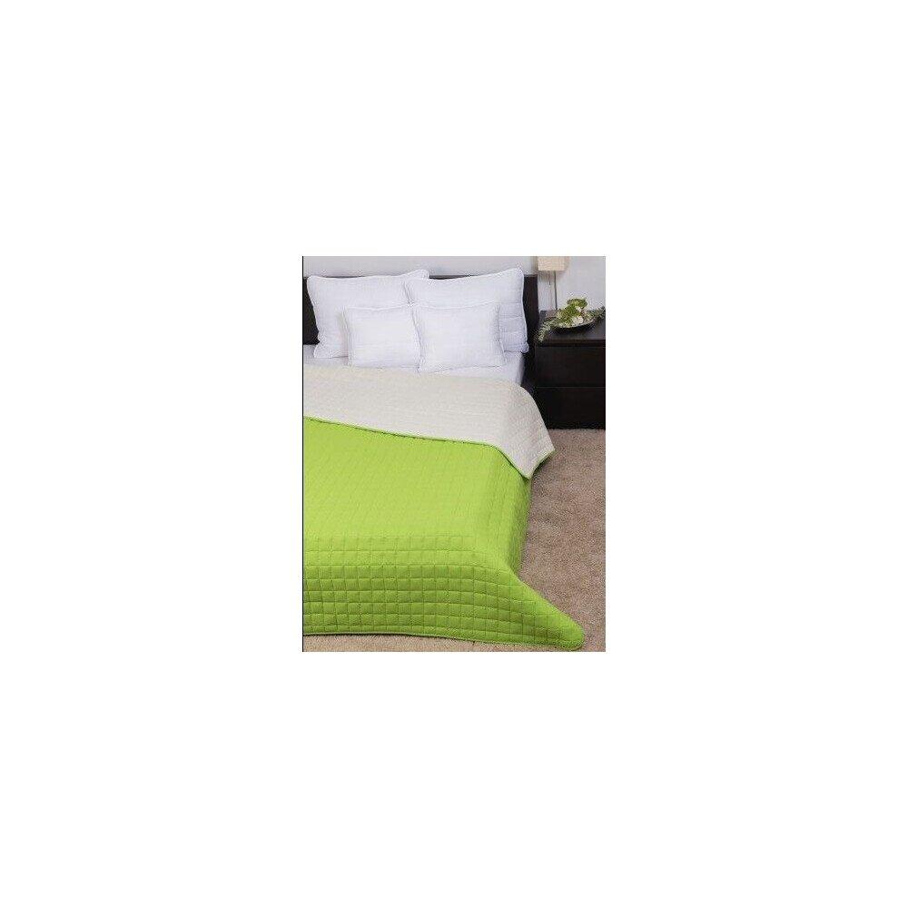Ágytakaró Laura microfiber zöld-krém 235x250cm