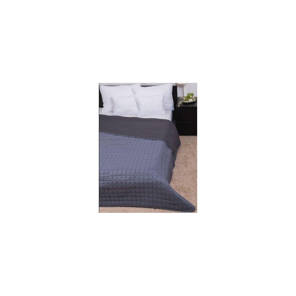 Ágytakaró Laura microfiber világosszürke-sötétszürke 235x250cm