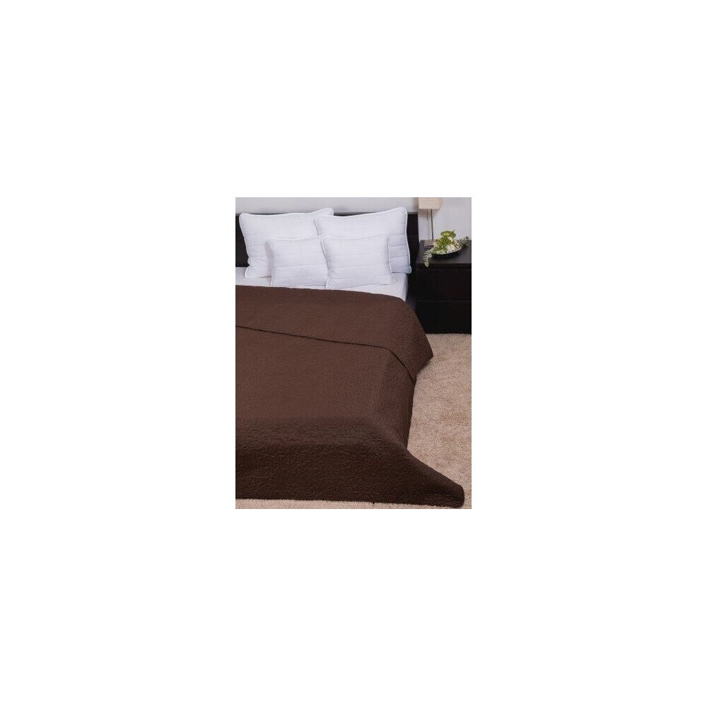 Ágytakaró Clara microfiber barna márvány szteppelt 235x250cm