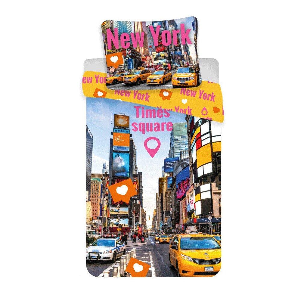 Times Square 2 reszes pamut-vaszon agynemuhuzat