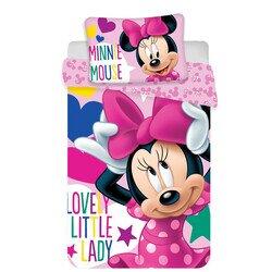 Disney Minnie egér 2 részes pamut-vászon ovis ágyneműhuzat