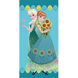 Disney Jégvarázs virágos pamut törölköző 70x140 cm