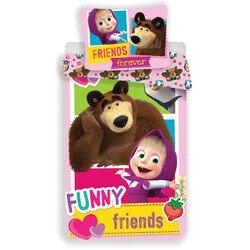 Masa es a Medve friends 2 reszes pamut-vaszon gyerek agynemu