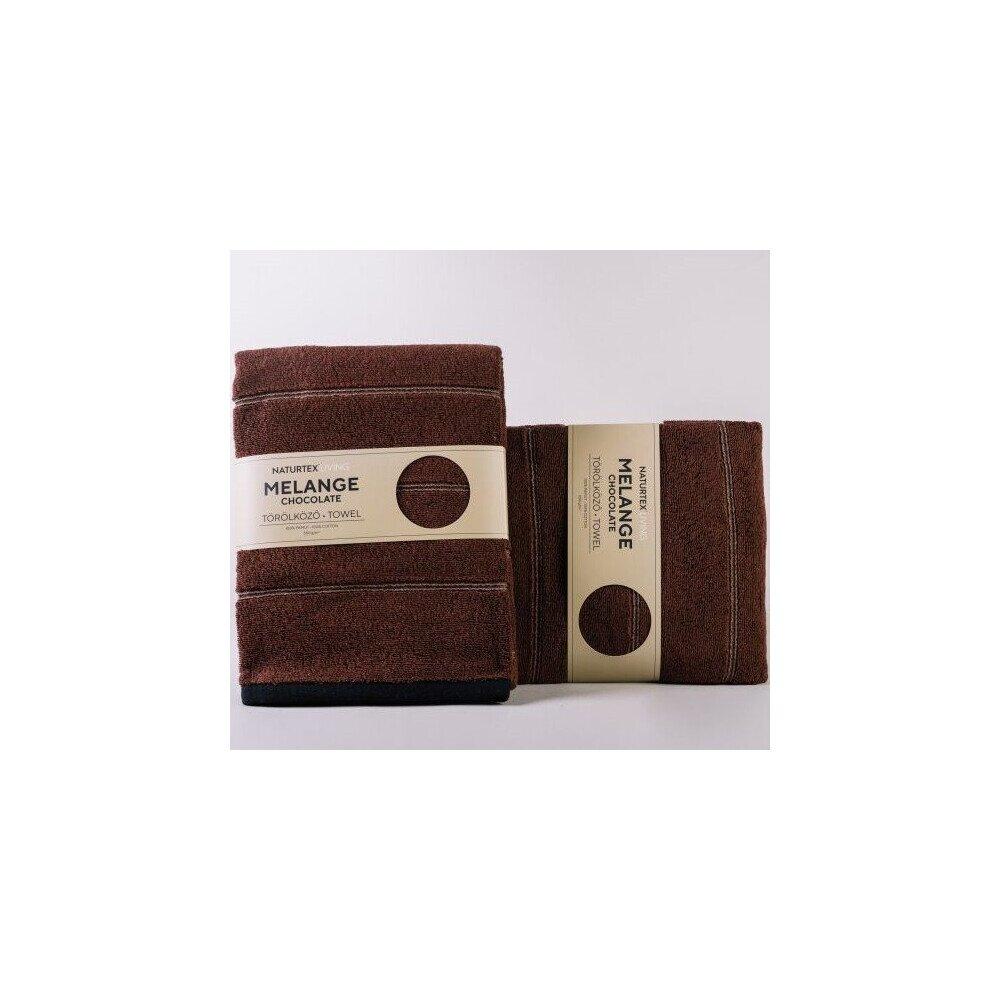 Melange Chocolate pamut torolkozo 70x140 cm