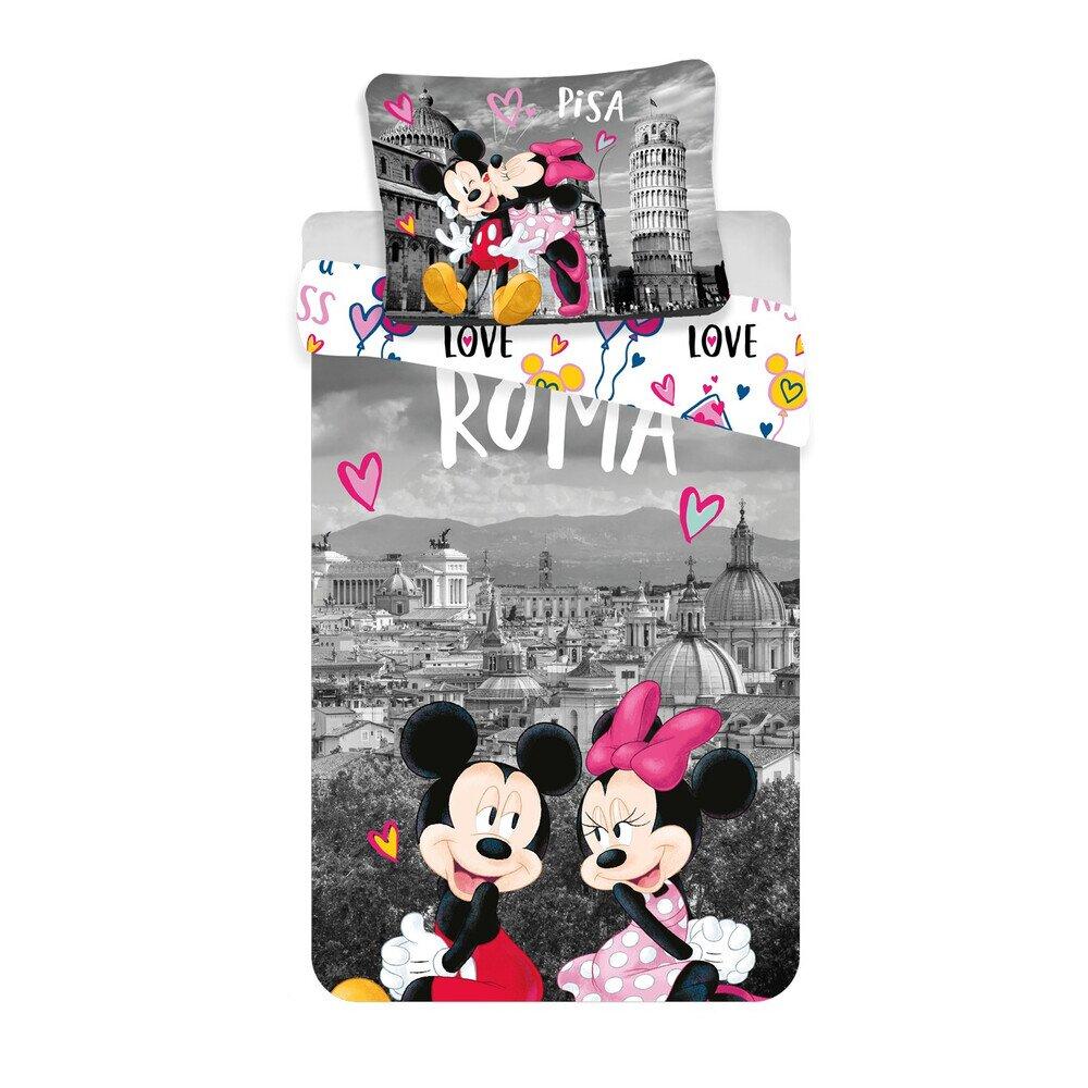 Disney Mickey es Minnie Eger Romaban 2 reszes pamut-vaszon gyerek agynemuhuzat