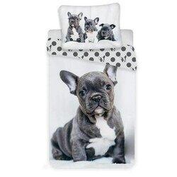 Francia bulldog 2 reszes pamut-vaszon gyerek agynemuhuzat