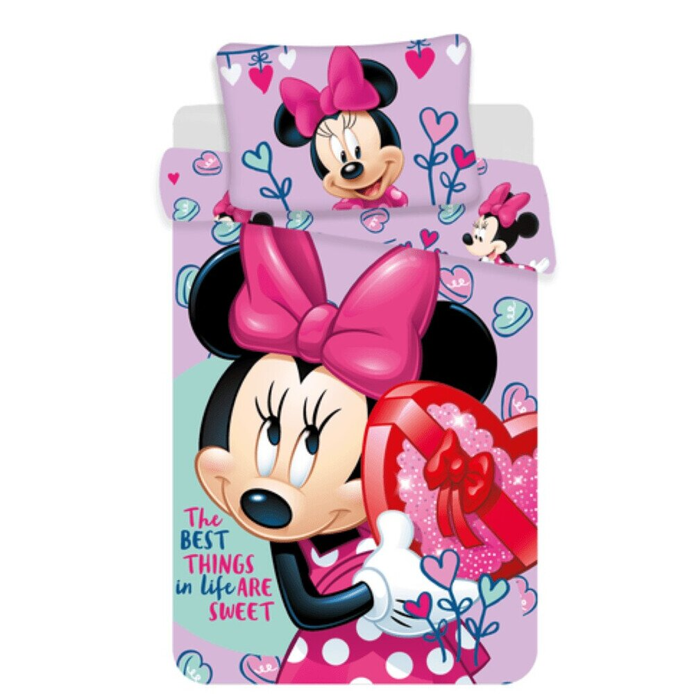 Disney Minnie Eger Purple 2 reszes pamut-vaszon gyerek agynemuhuzat